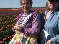 Pat and Sharon among the Tulips