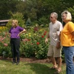 John discusses the finer points of rose growing with Rose and Lisa